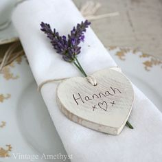 Lavender  heart place setting
