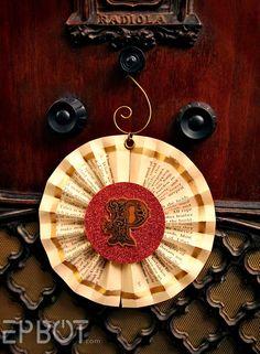 EPBOT: Book Paper Ornaments: Bows & Pinwheels