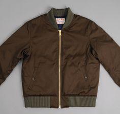 Left Field Flight Jacket, 10 oz Olive Twill via Hickoree's