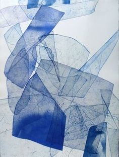 Batholith Etching, Monoprint #B-9, 2013, by Eben Goff
