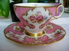 Queen Anne England bone china cup and saucer Lady Eleanor