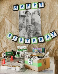 """Clever 3rd Birthday Party """"Trash Bash"""" - not sure what to say about this one, but there was some good ideas ..."""