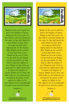 Free Printable Bookmarks, Stationery and Paper Gift Items with Beatitude Bible Verses | https://papergiftsforestefany.wordpress.com/ #Compassion International #letterwriting #childsponsorship #freeprintable #printables #bibleverse #scripture #sundayschool #homeschool #kids #bible #bookmark #forkids #beatitudes