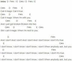 Red dress magic chords 3 string