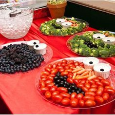 sesame street party ideas first birthday instead of tomatoes, sliced strawberries!
