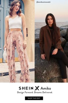 SHEIN X Design Forward. Dreams Delivered. SHOP THE EDIT Girly Girl Outfits, Indie Outfits, Cute Outfits, Fashion Outfits, Fall Fashion, Trendy Fashion, Cute Family Photos, Art Hoe, Aesthetic Movies