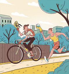 Steven Scott illustrazioni editoriali dal sapore retrò