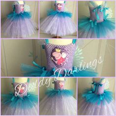 Sparkly Peppa Pig Tutu Dress Costume Fancy Dress Photo Shoots Play Peppa Pig #DiddyDarlings #CasualFormalParty