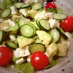豆腐とアボカドめっちゃ合います!思ってた以上に美味しくてびっくりしました^o^w - 28件のもぐもぐ - アボカド&豆腐のサラダ♥♥ by mihohomi