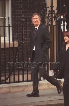 July 29, 1997 - Alan Rickman and Rima Horton en route to attend a party at No. 11 Downing Street in London hosted by Gordon Brown.