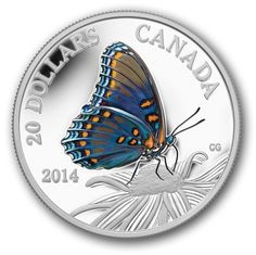 Butterflies of Canada: Red-Spotted Purple Gold Bullion Bars, Bullion Coins, Silver Bullion, Mint Coins, Silver Coins, Black Eyed Susan Flower, Canadian Coins, Antique Coins, Commemorative Coins
