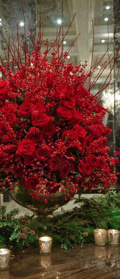 Beautiful and Amazing christmas flower arrangements Most Beautiful and Amazing Floral Decoration For Christmas Christmas Flower Arrangements, Christmas Centerpieces, Floral Arrangements, Christmas Decorations, Holiday Decor, Wedding Decorations, Elegant Centerpieces, Christmas Flowers, Christmas Candles