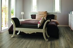 Exceptional service, design, and installation is just the beginning of what we promise. With this resilient cork flooring option we also promise better sleeps, more room in your wallet, and one of the most eco-friendly floor coverings available. Furniture, Home, Home Bedroom, Bedroom Design, Home Renovation, Stylish Flooring, Flooring, Cork Flooring, Flooring Options