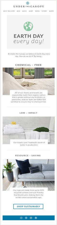 under the canopy earth day email. Earth Day, Every Day Email Design, Web Design, Water Resources, Earth Day, Email Marketing, Canopy, Best Sellers, Spring, Natural