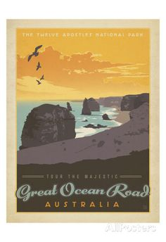 Tour The Majestic Great Ocean Road, Australia Print by Anderson Design Group at AllPosters.com