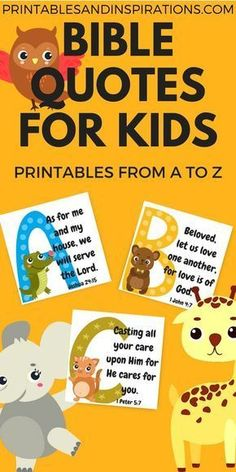 Free Printable Alphabet Memory Verses For Kids! (Bible Quotes is part of Kids Crafts Bible Memory Verse Say hello to our free printable alphabet memory verses for kids! These are Bible memory verses - Memory Verses For Kids, Bible Verses For Kids, Bible Study For Kids, Printable Bible Verses, Quotes For Kids, Printable Alphabet, Quotes Children, Printable Quotes, Bible Stories For Kids