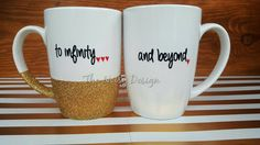 To infinity and beyond set of coffee mugs by TheNoisyDesign