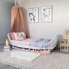 rattan children's bed! Photographed by @laine_tribes. Tap for product sources ⭐️