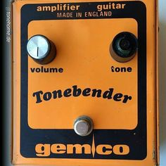 "By @tonehome.de ""gemco Tonebender from 1977 a OEM version of a Colorsound Tone Bender MkIII with 3 BC109B NPN silicon trannies #vintagepedals #tonehome #geartalk #pedalporn #vintagegear #tonebender #colorsound #solasound #effectspedals"""