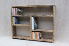 Reclaimed Wood Bookcase / Storage and Shelving by OldManAndMagpie Reclaimed Wood Bookcase, Reclaimed Wood Furniture, Salvaged Wood, Wood Shelves, Shelving Units, Industrial Furniture, Room Divider Bookcase, Wood Room Divider, Bookcase Storage