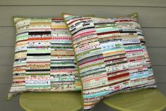 Selvage Pillows Front View | by Modern Quilting by B