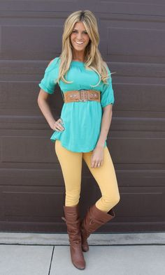 Super cute! Love the shirt with some jeans and cowboy boots