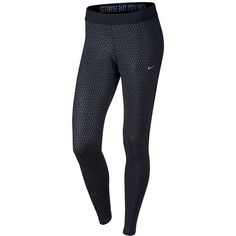 Women's Nike Relay Dri-FIT Printed Running Tights ($33) ❤ liked on Polyvore featuring activewear, activewear pants, black, nike, nike activewear pants, nike activewear and nike sportswear