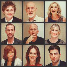 Evan Peters, James Cromwell, Jessica Lange, Joseph Fiennes, Ryan Murphy, Lily Rabe, Lizzie Brocheré, Sarah Paulson, and Zachary Quinto