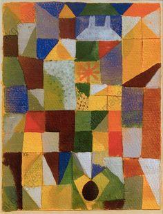 "Urban Composition with Yellow WindowsKlee, Paul 1879–1940. ""Urban Composition with Yellow Windows"" (Städtische Komposition m. d. mit gelben Fenstern), 1919, 167. Watercolour on paper on cardboard, 29.9 × 22.3cm. Foundation Kurt Fried Collection, Ulm, Ulmer Museum."