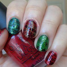 Ugly Sweater Holiday Inspired Stamping