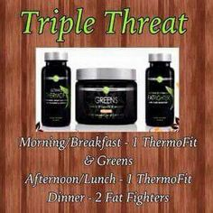 "Are you struggling to loose weight ?? Well triple threat can help you with that!!! Let's get you started on a 90 day challenge!  The holidays are coming so let's keep shedding pounds during them :-) txt me #4328160080 ""triple threat "" or message me to get more info and to get started !"
