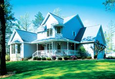 See the Serena Hill Country Farmhouse that has 4 bedrooms, 3 full baths and 1 half bath from House Plans and More. See amenities for Plan Country House Design, Country House Plans, Country Style Homes, Country Houses, Country Porches, Southern Style, House Plans And More, Family House Plans, House Floor Plans