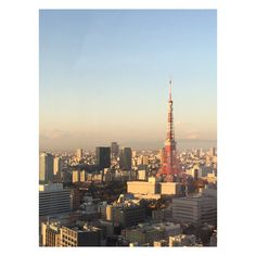 You can see Zojoji Temple at the base of Tokyo Tower on the left and Mt. Fuji peeking out in the background on the right.