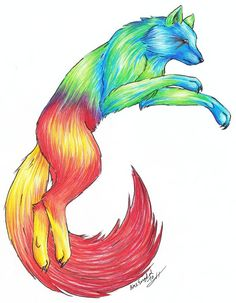 rainbow wolf | Rainbow Wolf by LARvonCL on deviantART