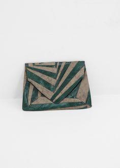 Dries Van Noten Small Envelope Clutch (Green)