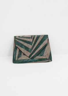 Dries Van Noten Small Envelope Clutch (Green)