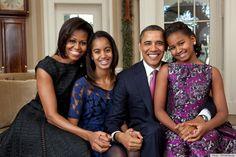 The beautiful Obama family