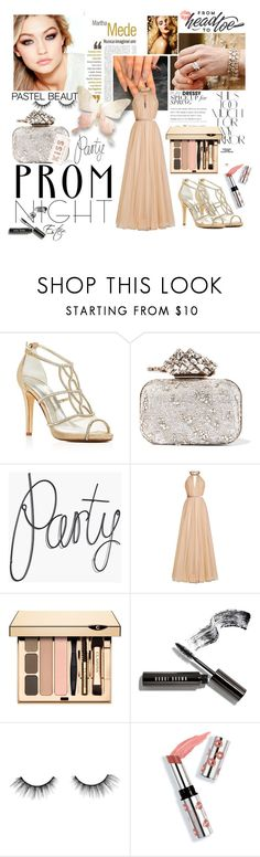 """Best Prom Night"" by estee-zilberman ❤ liked on Polyvore featuring Martha Medeiros, Caparros, Jimmy Choo, Maybelline, Jenny Packham, Rika, Bobbi Brown Cosmetics, tarte, Ciaté and Kate Spade"