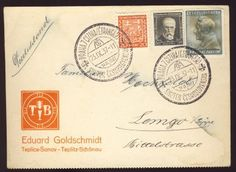 Praha  postcard with three Ceskoslovenska stamps and two 23 Sep 1937 cancellations
