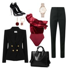 """""""Untitled #17"""" by encsikee on Polyvore featuring Johanna Ortiz, Yves Saint Laurent, Pierre Balmain and ROSEFIELD"""