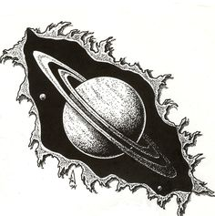 Saturn tattoo, just the planet not the design outside it