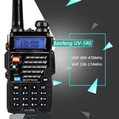 Walkie Talkie radio portátil Baofeng UV-5RE PLUS de Doble Banda radio de Dos Vías Pofung UV 5RE 5 W 128CH UHF/VHF de Doble Pantalla radio