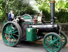 Aveling Porter Traction Engine. Fred Dibnah renovated every part of this engine and is seen driving