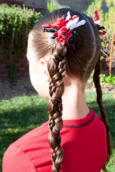Princess Piggies - All kinds of little girl braided hairstyles fit for a princess. Maybe some day if I get a granddaughter. Little Girl Braid Hairstyles, Little Girl Braids, Princess Hairstyles, Girls Braids, Fancy Hairstyles, Braided Hairstyles, Natural Hair Styles, Long Hair Styles, Beautiful Long Hair