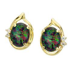 AUSTRALIA OPAL - Opal Earrings (E3300GB), $205.00 (http://www.australiaopal.com.au/opal-earrings-e3300gb/)