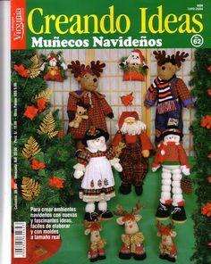 Colección de revistas de manualidades : Revistas Creando Ideas gratis Book Crafts, Crafts To Do, Craft Books, Christmas Books, Christmas Ornaments, Stitch Magazine, Barbie, Cross Stitch Books, Painted Books
