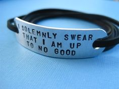 I solemnly swear that I am up to no good bracelet from Tesoro Jewelry