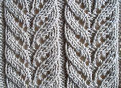 Knitting Room, Lace Knitting Stitches, Lace Knitting Patterns, Free Knitting, Stitch Patterns, Knit Headband Pattern, Knitted Headband, Knit Crochet, Knits
