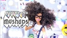 by request: Today at Mash Ups we've got ALL THINGS HAIR! Thats right, check out some of our favorite Hair Crafts . from a Doll Afro to a complete Yarn Re-. Barbie Hair, Barbie And Ken, Doll Hair, Barbie Dolls, Doll Crafts, Diy Doll, Doll Clothes Patterns, Doll Patterns, Myfroggystuff