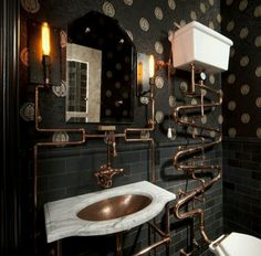 Crazy plumbing?  Yes, but beautiful!